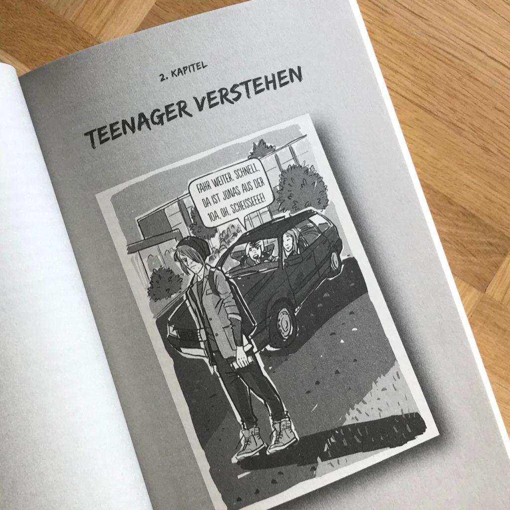 """Kapitel 2 aus """"How to survive mit Teenager"""", Zeichnung von Jana Moskito"""